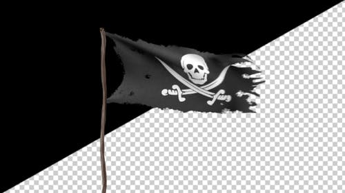 Animation of a Pirate Flag with Alpha Channel