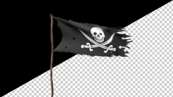 Thumbnail for Animation of a Pirate Flag with Alpha Channel