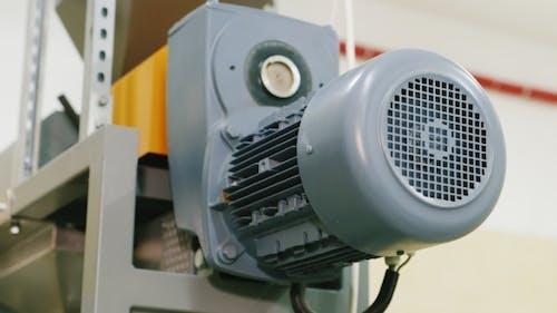 Compressor Engine, Pumps Liquid Through the Pipe