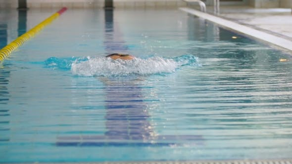 Thumbnail for Young Sportsman Swimming Under the Water in the Swimming Pool