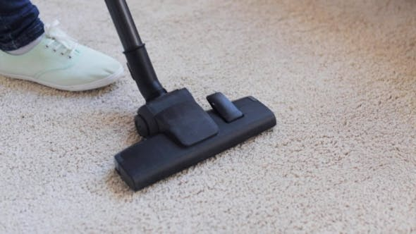 Thumbnail for Woman with Vacuum Cleaner Cleaning Carpet at Home 42