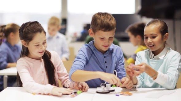 Thumbnail for Happy Children Learning at Robotics School 58