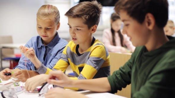 Thumbnail for Happy Children Learning at Robotics School 10