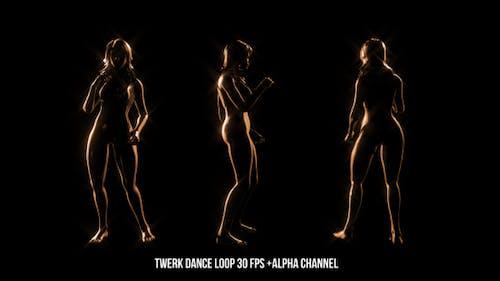Golden Twerk Dancer