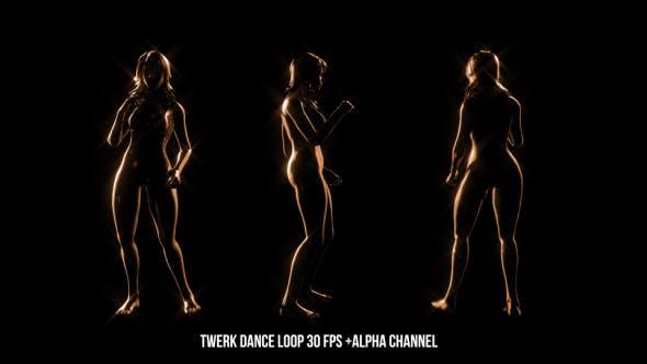 Thumbnail for Golden Twerk Dancer