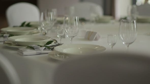 Thumbnail for Elegant Candlelight Dinner Table Setting at Reception