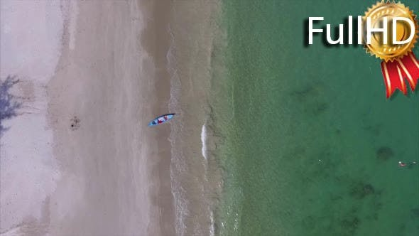 Aerial View of the Andy Beach With Jet Ski and