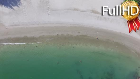 Thumbnail for Aerial View of Sandy Beach With Turquoise Water