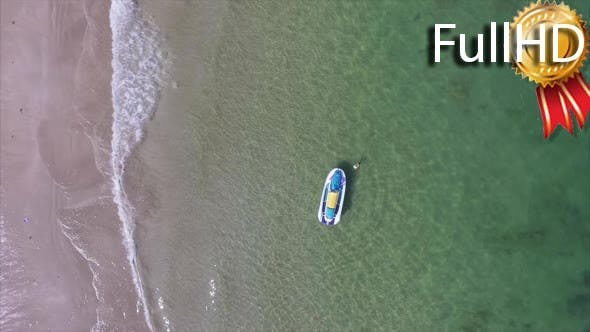 Thumbnail for Aerial View of the Beach With Jet Ski