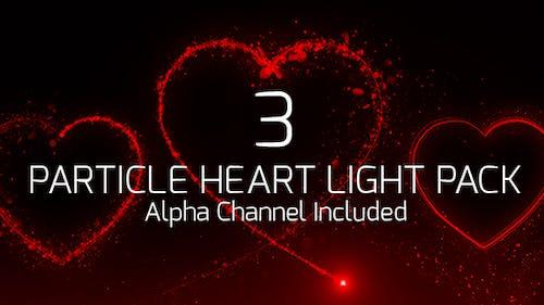 Teilchen-Herz-Lichtpaket
