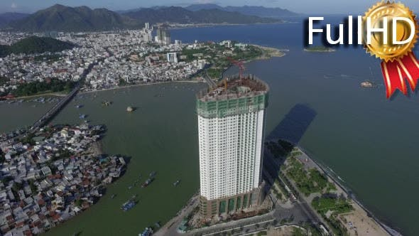Thumbnail for Aerial View of the Construction of a Skyscraper