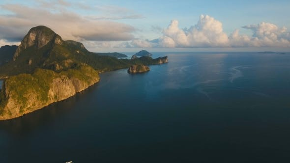 Thumbnail for The Beautiful Bay Aerial view.Tropical Islands.