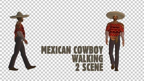 Mexican Cowboy Walking - 2 Scene
