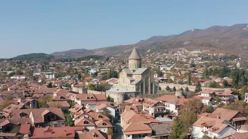 Svetitskhoveli Cathedral And Sky