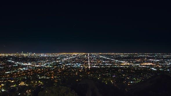 Of Illuminated Los Angeles City