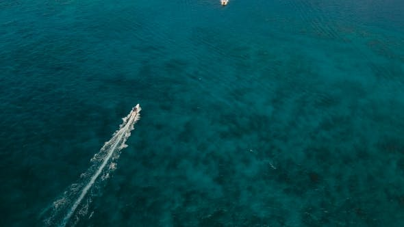 Thumbnail for Speedboat on the Sea, Aerial view.Boracay Island, Philippines.