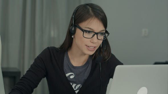 Thumbnail for Confident and Beautiful Customer Support Operator Working in Call Center