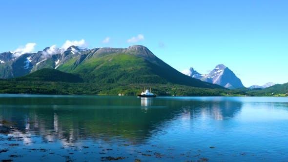 Ferries' Cross. Beautiful Nature Norway.