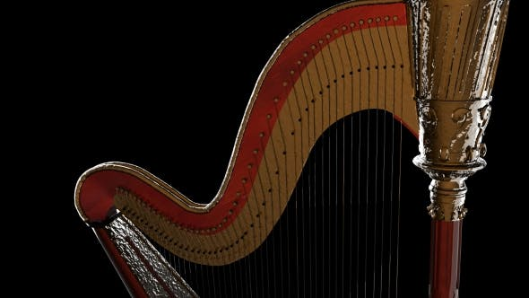 Thumbnail for Classic Wooden Harp with Gold