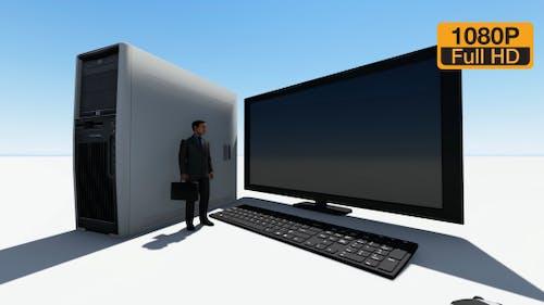 Businessman Near the Computer