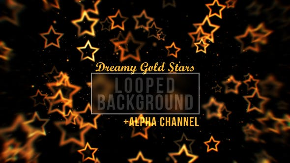 Thumbnail for Gold Star Particles Background