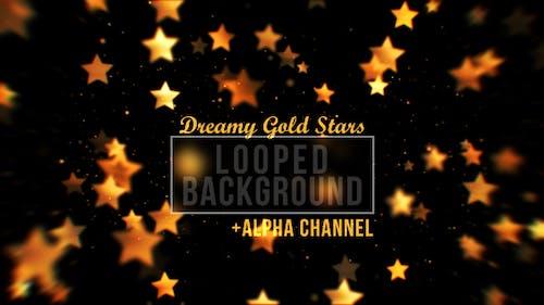 Gold Stars Background Loop