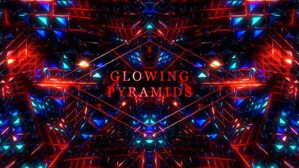 Glowing Pyramids