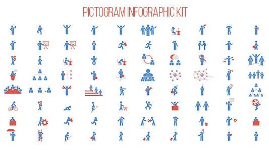 Thumbnail for Pictogram Infographic Kit