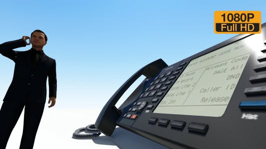 Thumbnail for Business People Speaking Phone
