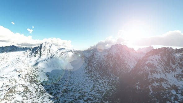 Thumbnail for Mountains in Snow and Blue Sky
