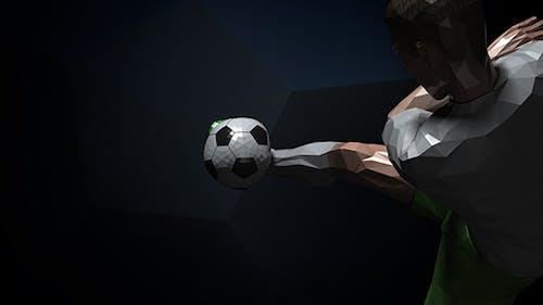 Logo de jugador de fútbol Kick