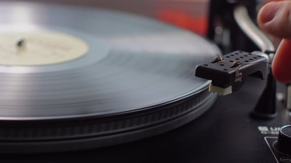 Thumbnail for Old Vinyl Turntable Playing Music