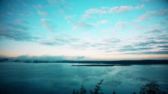 Thumbnail for Fog Over Lake in the Morning.