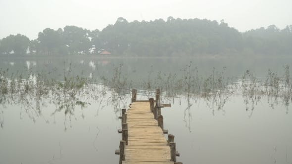 Thumbnail for Wooden Bridge in the Misty Lake