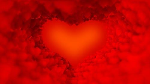 Rot Valentine`s Herzen