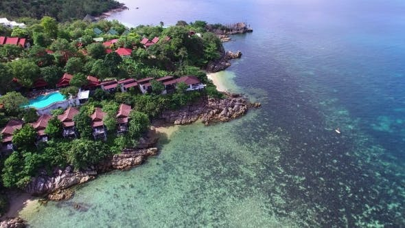 Thumbnail for Beautiful Aerial View of Tropical Island in Thailand