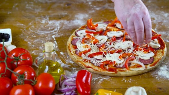 Thumbnail for Prepearing Tasty Homemade Pizza