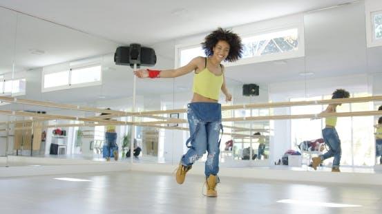 Thumbnail for Adorable African American Girl Dancing in Studio