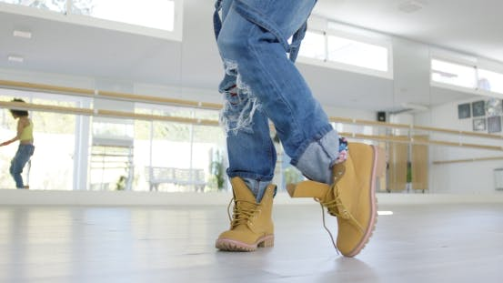 Thumbnail for Low Angle View on Dancers Boots
