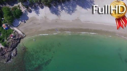 Aerial View of the Beach, Jet Ski, Kayak and