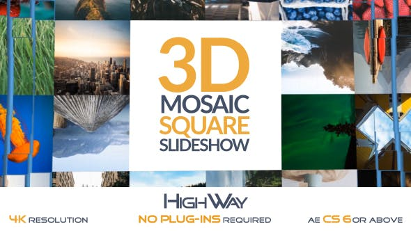 3D Mosaic Square Slideshow