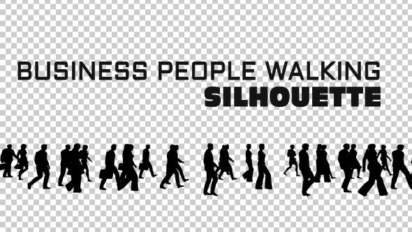 Thumbnail for Business People Silhouettes Walking