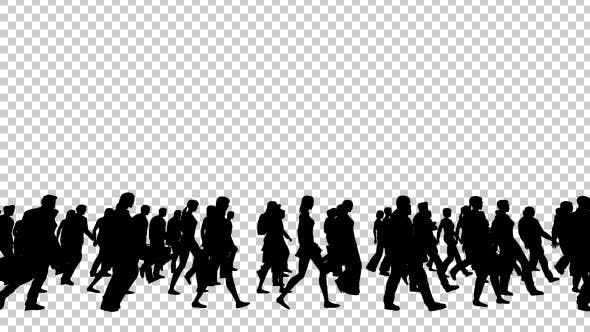 Thumbnail for Silhouettes of People Walking