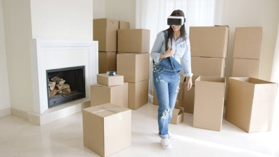 Thumbnail for Young Woman Using a Virtual Reality Headset
