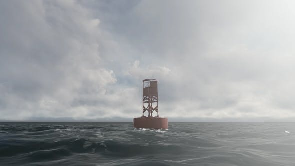 Thumbnail for Ocean and Buoy - Cloudy Day