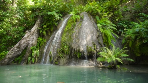 Thumbnail for Beautiful Tropical Waterfall. Philippines Cebu Island.