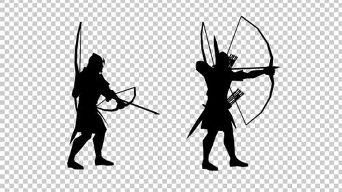 Archer Aiming Silhouette