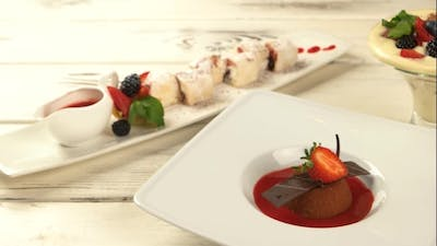 Plates with Desserts