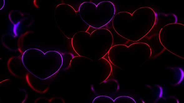 Thumbnail for Neon Hearts Background