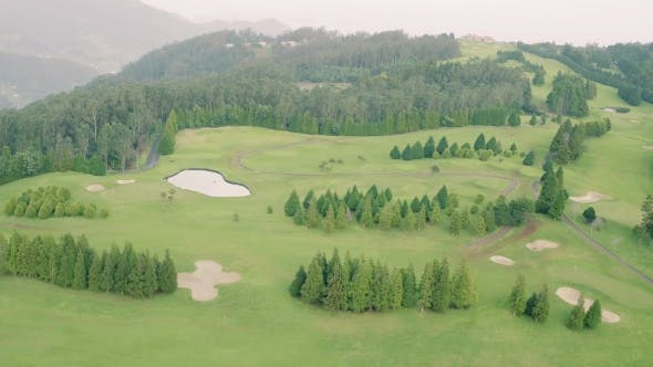 Thumbnail for Aerial View of the Golf Course in Mountains